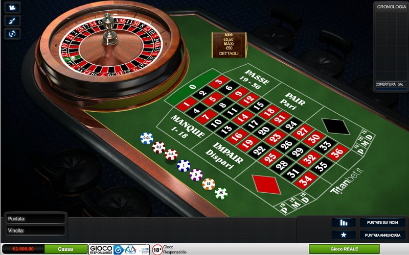 Roulette francese in affilate
